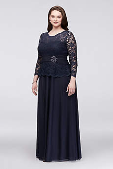 Long A-Line 3/4 Sleeves Formal Dresses Dress - Cachet