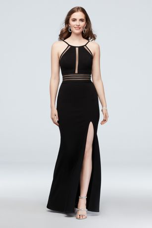 Long Sheath Halter Dress - City Triangles
