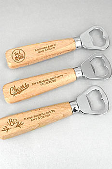 Personalized Wood Handle Bottle Opener 7764050