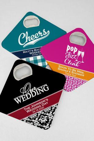 Personalized Bottle Opener Coasters