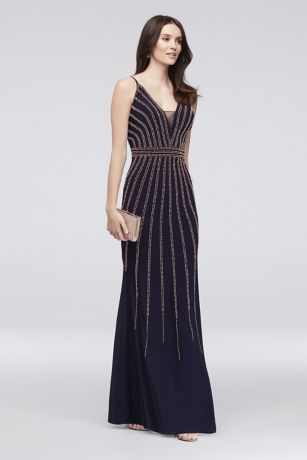 Long Mermaid/ Trumpet Spaghetti Strap Dress - Xscape