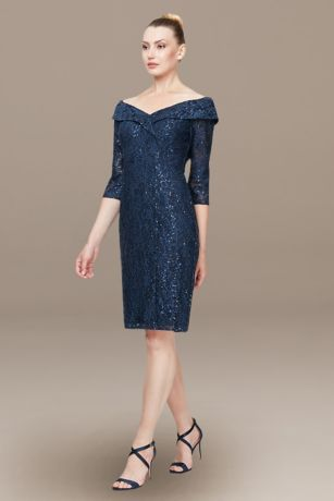 Short Sheath Dress - Alex Evenings
