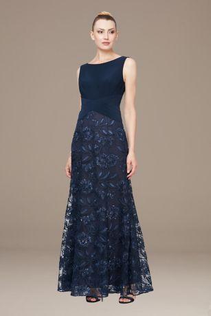 Long A-Line Strapless Dress - Alex Evenings