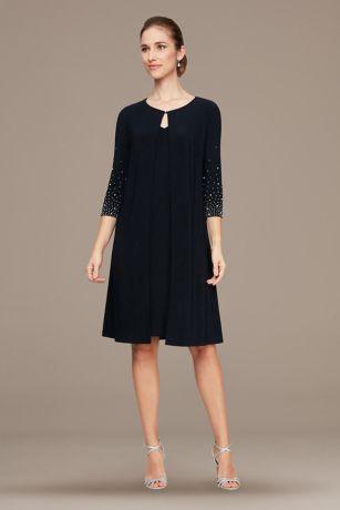 Short 3/4 Sleeves Dress - Alex Evenings
