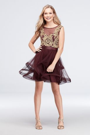 Short Ballgown Tank Dress - City Triangles