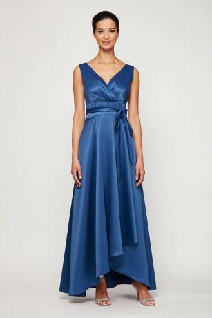 High Low Ballgown Sleeveless Dress - Alex Evenings