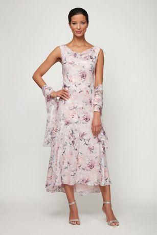 Tea Length A-Line Tank Dress - Alex Evenings