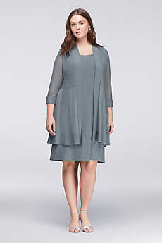 Short Sheath 3/4 Sleeves Cocktail and Party Dress - RM Richards