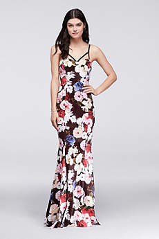 Long Mermaid/ Trumpet Spaghetti Strap Formal Dresses Dress - City Triangles