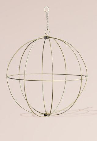 Gold Wire Sphere Chandelier