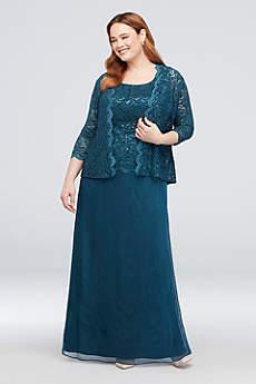Long A-Line Jacket Formal Dresses Dress - Alex Evenings