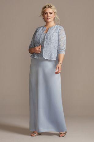 Long A-Line Jacket Dress - Alex Evenings