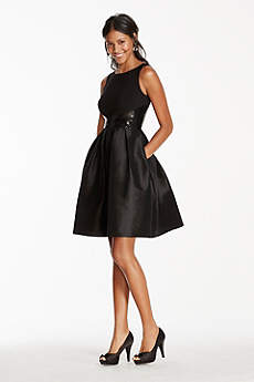 Short A-Line Tank Cocktail and Party Dress - RM Richards