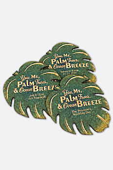 Personalized Palm Leaf Cork Coaster 8499108