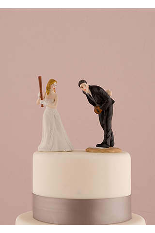 Wedding cake toppers davids bridal hit a home run baseball cake topper junglespirit Choice Image