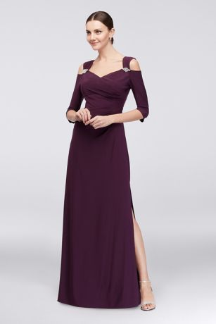 Long Sheath Off the Shoulder Dress - RM Richards