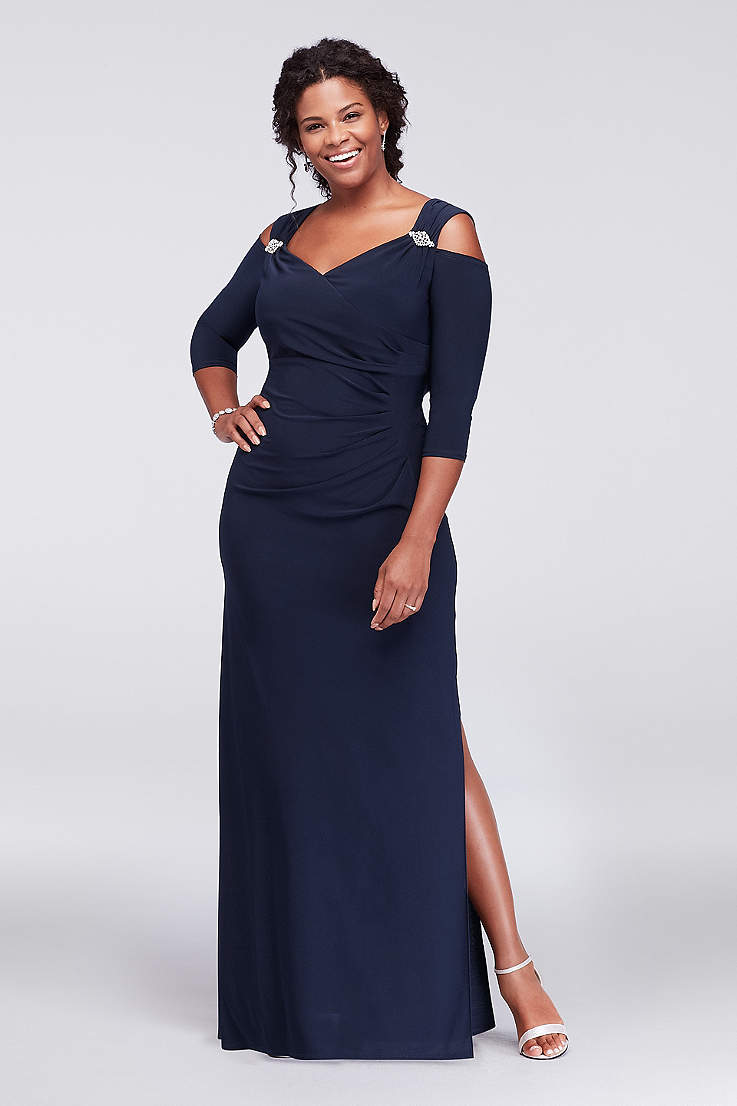 9610ed3cf83 Long Sheath Off the Shoulder Dress - RM Richards