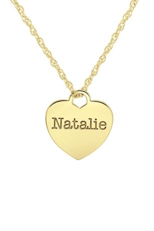 Personalized Name Heart Pendant Necklace