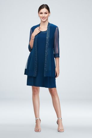 Short Sheath Jacket Dress - RM Richards