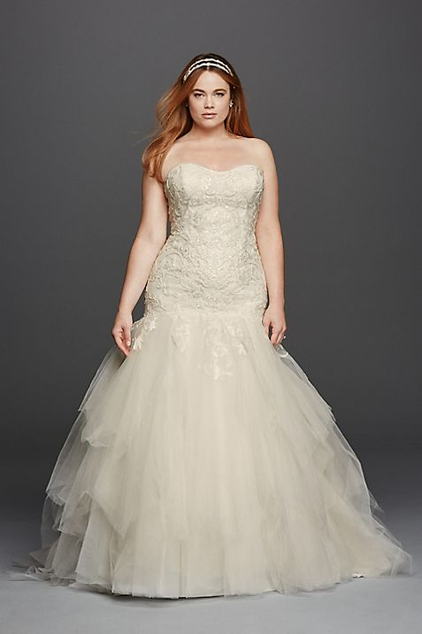Strapless Sweetheart Tulle Plus Size Wedding Dress | David\'s Bridal