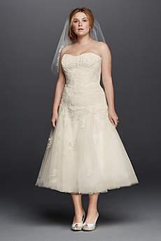 Short A-Line Formal Wedding Dress - Oleg Cassini