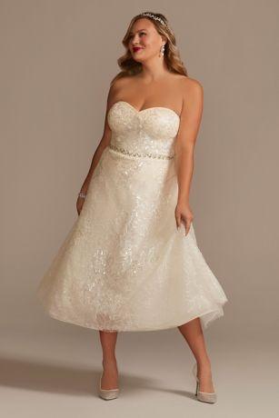 Short A-Line Wedding Dress - Oleg Cassini