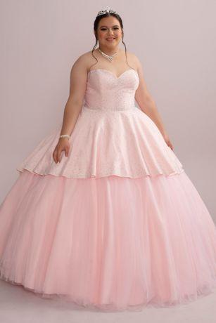 Long Separates Strapless Dress - Fifteen Roses