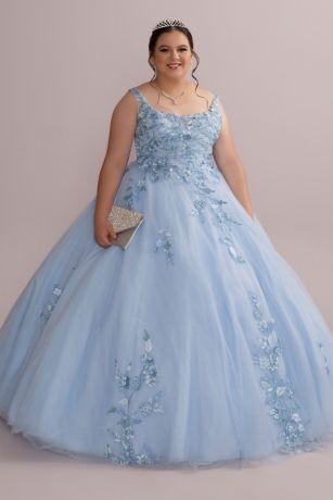 Long Ballgown Wedding Dress - Fifteen Roses