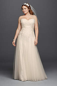 Vintage Plus Size Wedding Dresses | David\'s Bridal