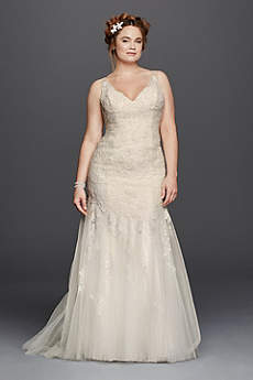 Melissa Sweet Illusion Tank Wedding Dress