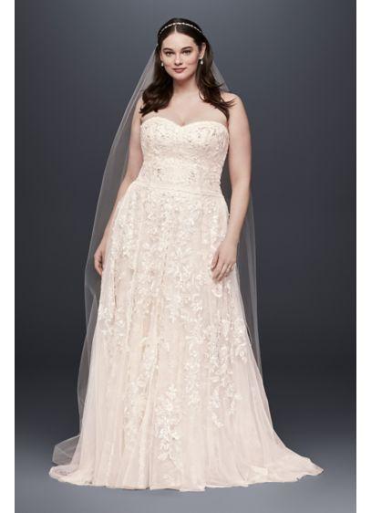 Melissa Sweet Lace A Line Plus Size Wedding Dress Davids Bridal