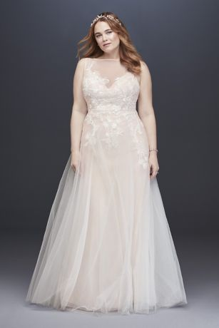 Satin Lace Wedding Dress with Thin Belt