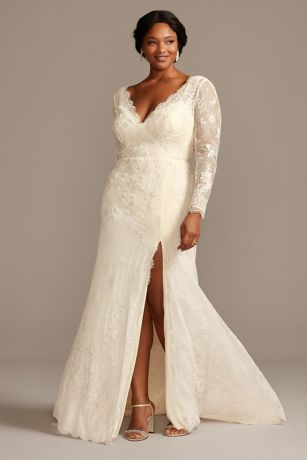 Long Sheath Wedding Dress - Melissa Sweet