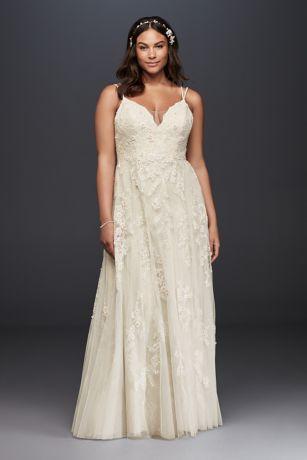 Long A Line Wedding Dress Melissa Sweet Plus Size