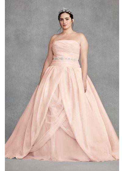 White By Vera Wang Organza Plus Size Wedding Dress Davids Bridal