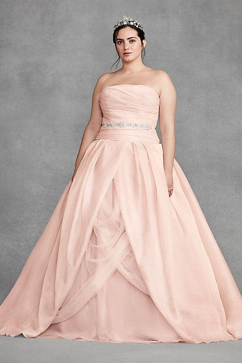 White by Vera Wang Organza Plus Size Wedding Dress | David\'s Bridal
