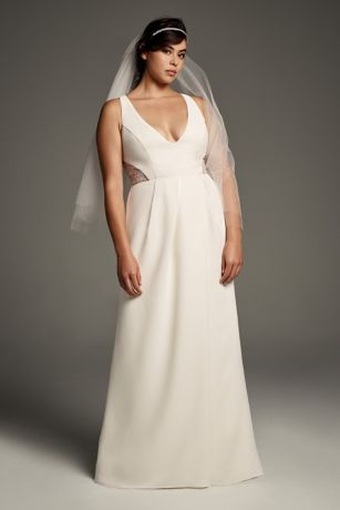 Long Sheath Wedding Dress - White by Vera Wang - Apres