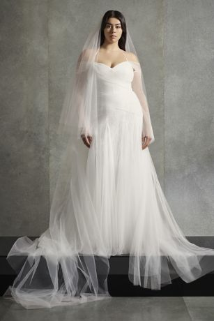 White by Vera Wang Halter Plus Size Wedding Dress