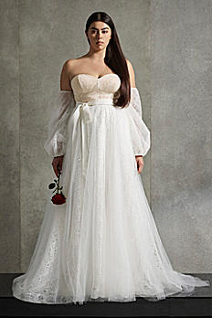 White by Vera Wang  Corset Plus Size Wedding Dress 8SLVW351548