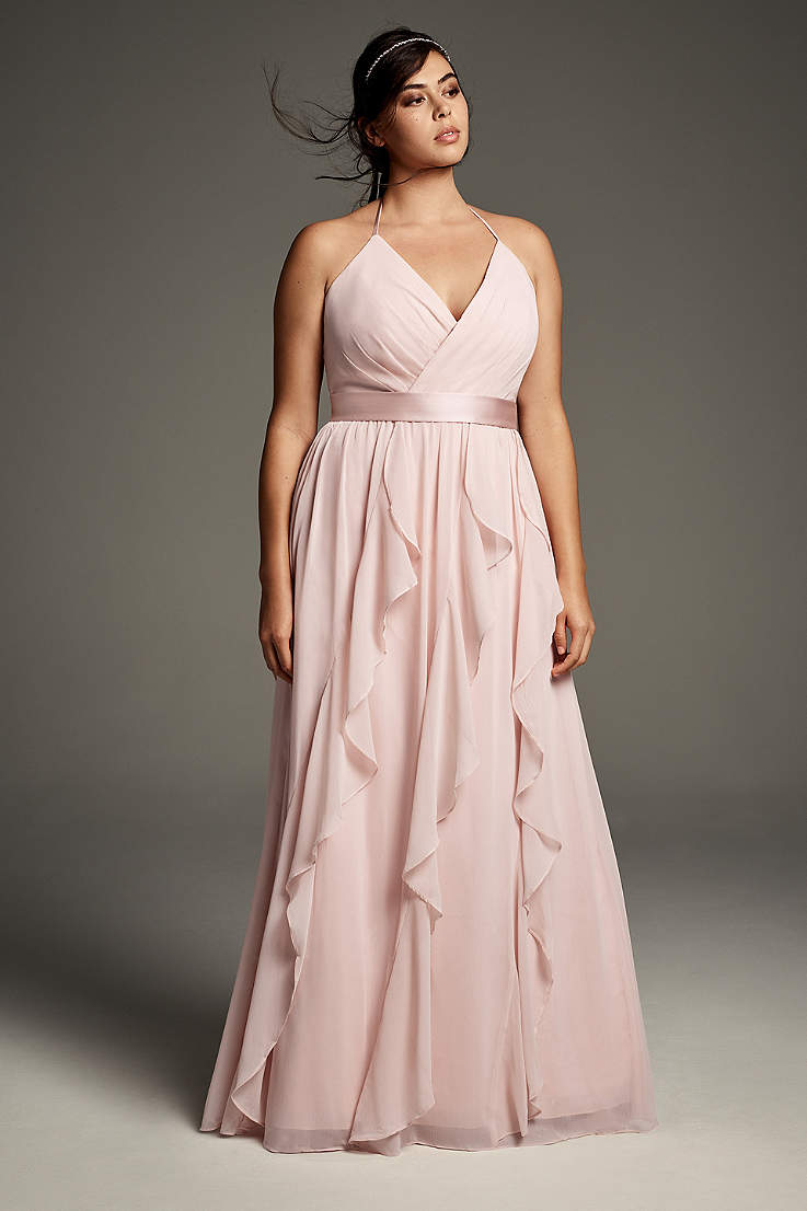 ab391f061b Soft & Flowy White by Vera Wang Long Bridesmaid Dress
