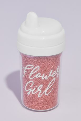 Glitter Flower Girl Sippy Cup with Lid