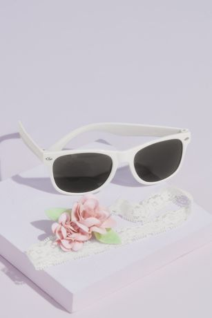 Flower Girl Sunglasses and Headband Set