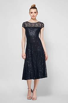 Tea Length A-Line Not Applicable Formal Dresses Dress - SL Fashions