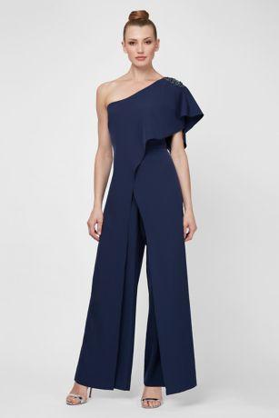 Jumpsuit One Shoulder Dress - SL Fashions