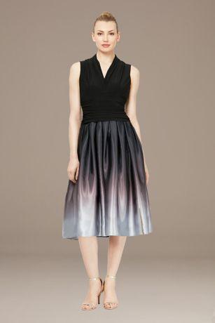 Tea Length Fit and Flare Sleeveless Dress - SL Fashions