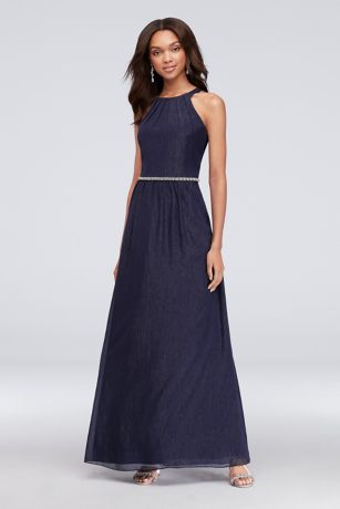 Long A-Line Halter Dress - SL Fashions