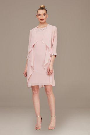 Short Sheath Jacket Dress - SL Fashions