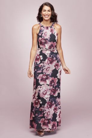 Long A-Line Halter Dress - Ignite