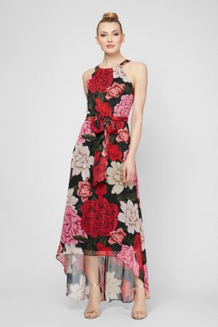 High Low A-Line Halter Dress - SL Fashions