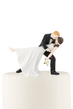Personalized Dancing Bride and Groom Cake Topper